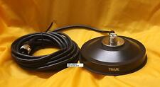 5 INCH UHF SO-239 BLACK MAG MAGNET MOUNT W/RUBBER BOOT PL259 TRAM BROWNING 3265R