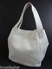 COACH Lexington XL Shopper #4182 White Leather ~ 1998 ITALY ~ XLNT!