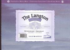 Daler Rowney Langton almohadilla acuarela: papel pegado Pad 140 lb (approx. 63.50 kg) 300gsm: A5: en bruto