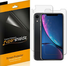 "Supershieldz Clear Screen Protector for iPhone XR (6.1"") (3 Front + 3 Back)"