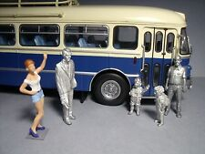 5  FIGURINES 1/43  SET  343  TRANSPORT  SCOLAIRE   VROOM  UNPAINTED  FOR  NOREV