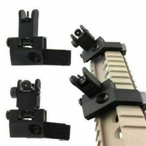 Front and Rear Flip Up 45Degree Offset Sight Rapid Transition Backup Iron Sights