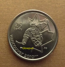 CANADA COIN .25c VANCOUVER 2010 WINTER PARA OLYMPIC GAMES SLEDGE HOCKEY *UNC