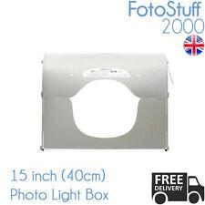 Medio profesional 40CM K40 Led Cubo Mini Kit de Estudio fotográfico carpa Reino Unido Stock