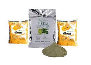 Neem Leaf Powder(100 g) and Turmeric Powder(100 g) Anti allergic and Anti-Septic