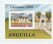 Anguilla MNH #791 Souv Sheet Christmas 1989 Historic Houses A090