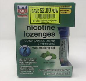Rite Aid Mini Nicotine Lozenges 2mg, 81 Lozenges, Exp.2/2021 Free USA Shipping