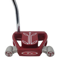 """SuperStroke FATSO 5.0 Black/Silver Grip on T7 Twin Engine Red Mallet 36"""" Putter"""