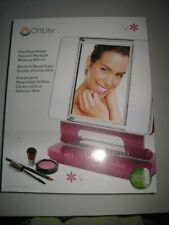 Ott-Lite Natural Daylight 26W Dual-Sided Makeup Mirror, Purple/Chrome, OPEN BOX!