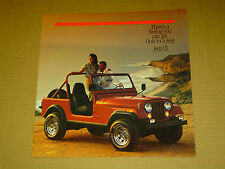1986 JEEP CJ SALES BROCHURE 12 PAGES NICE! RENEGADE LAREDO