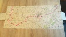 """c1900 HUNTING MAP - THE PYTCHLEY HUNT"""" NICE COPY- 48 FOLD OUT SECTIONS"""