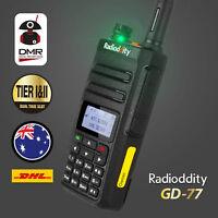 2-4Day! Radioddity GD-77 DMR V/U Tier2 Digital 2200mAh Two way Radio + Cable DHL