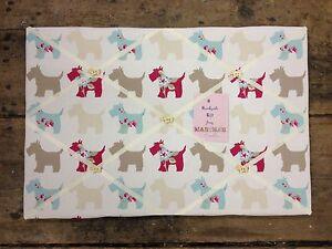 Clarke & Clarke Scotty Dog Fabric Pin/memo/Notice Board 60x40cm Shabby Chic Gift