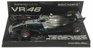 Minichamps Mercedes F1 W08 #46 'Ride Swap' 2019 - Valentino Rossi  1/43 Scale