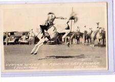 Real Photo Postcard RPPC - Rodeo Cowgirl Vivian White Duncan OK Doubleday Photo