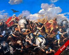 BATTLE OF ALEXANDER THE GREAT V KING DARIUS PAINTING WAR ART REAL CANVAS PRINT
