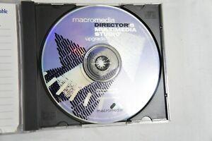 Macromedia Director 6 & Mutimedia Studio Upgrade Disc w/ Serial #, for Windows