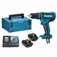 Makita DLX2180TJ Cordless Brushless Kit With Dhp484 Combi Drill Plus 18 V Dtd153