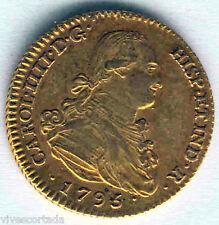 Carlos IV 2 Escudos 1795 Madrid M.F. Oro @ Excelente @