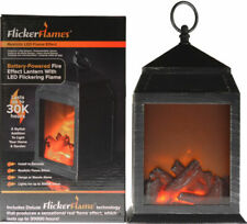 Flickerflames Dancing Flame Fire Effect Battery Powered LED Lantern 30k Hours