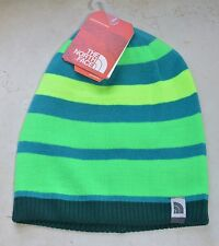 the north face tnf youth boys pete n repeat reversible beanie depth green small