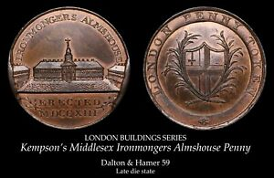 Kempson's Middlesex Copper Conder Penny 59, lustrous!