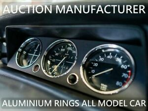 For Bmw 2002 E10 (02) 1974-1976  Polished Aluminium Dial Surrounds Speedo Rings