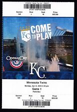 Minnesota Twin at Kansas City Royals April 8 2013 Unused Ticket Home Opening Day