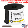 Electrical Wires Stranded CU THHN Wire Single Conductor Black 500 Ft 14 Gauge