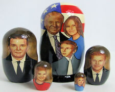 5pcs Russian Nesting Doll of President Trump & Family 7.25 inches Free S&H