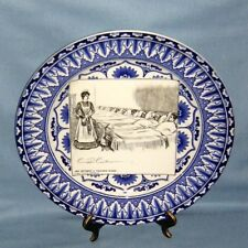 Royal Doulton transferware Historical Plate She Becomes A Trained Nurse.