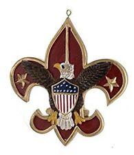 Kurt Adler Boy Scout Eagle Emblem Insignia Fleur-de-lis Ornament red
