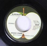 Rock 45 Ringo Starr - Blindman / Back Off Boogaloo On Apple Reords