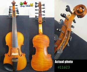 """Baroque style SONG Brand master 6×6 strings 14"""" Viola d'Amore ,huge tone #11623"""