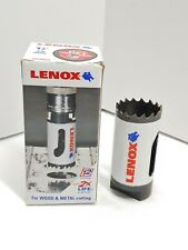 """Lenox 1-1/8"""" Hole Saw 1828922 T2 Technology With Speed Slot For Wood & Metal"""