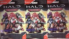 x3 New Halo Micro Action Figures Warrior Series MegaConstrux BlindBags•dif Codes