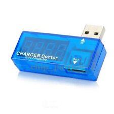 USB Current Tester 3.5V-7V 0A-3A Detector Ampere Meter Charger Doctor Blue