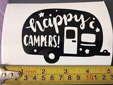 Car Window decal, Happy Campers Vinyl sticker, Laptop, Wall, Caravan