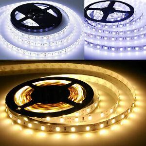5-50m LED Stripe Leiste Streifen Band Licht 5050 SMD Lichterkette Dimmar 24V