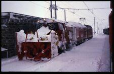 35mm slide+© RhB Rhätische Bahn Xrotet 9219 Bernina Switzerland 1987 original