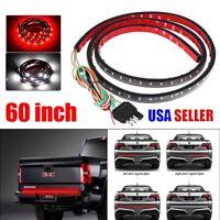 60 inch Flexible LED Strip Signal Light Tailgate Bar Truck Pickup Reverse Brake