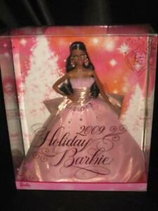2009 HOLIDAY Barbie Doll African American 50th Anniversary Pink Gown N6557 NRFB