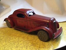 TIN WIND UP  MYSTERY CAR BY WOLVERINE TOYS RED COUPE 13 INCH L@@K!