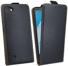 Handy Tasche Hülle Case Etui Schutz Cover Zubehör Schwarz für LG Q6 M700N @COFI