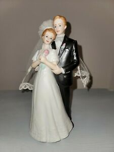 Enesco Bride and Groom Porcelain Wedding Figurine Beautiful GG