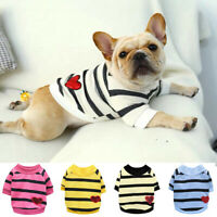 Pet Dog Cat Clothes Striped Love Sweater T-shirt Coats Puppy Chihuahua Clothing&