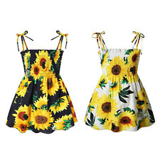 New Summer Dress for Girls Party Floral Kids Clothes Baby Girls Beach Dresses