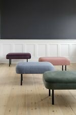Pouffe. flat pack , 3 TYPES ( 1 x velour 2 x polyester)