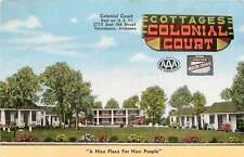 Alabama, AL, Tuscaloosa, Colonial Court Linen Postcard