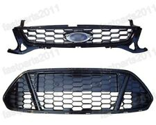 Honeycomb Front Upper & Lower Bumper Mesh Grilles Set For Ford Mondeo 2011-2012